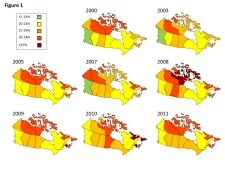 Obesity Rates in Canada from 2000-2011